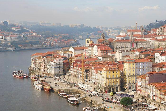 Vista panorámica de Oporto