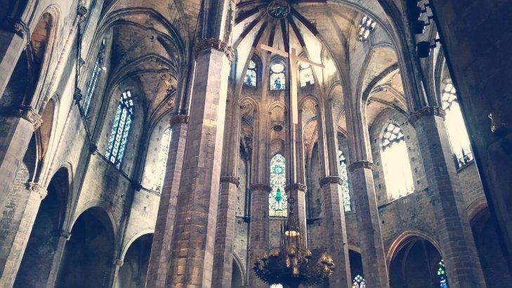 Interior de la Basílica de Santa María del Mar, Barcelona