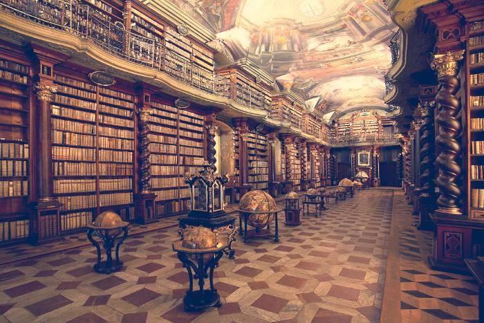 Interior del Klementinum, en Praga